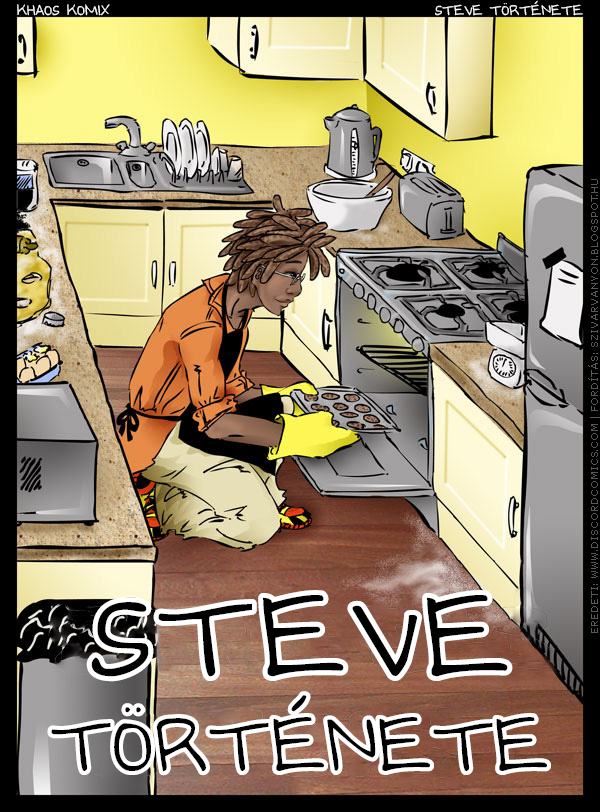 Steve története - Borító